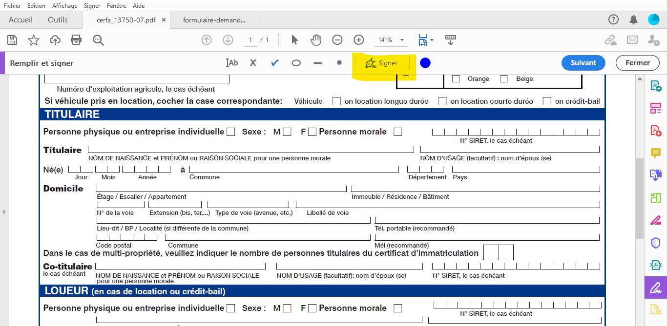 outil signer un document pdf